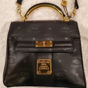 HCL Handcrafted Vintage Black Small Crossbody